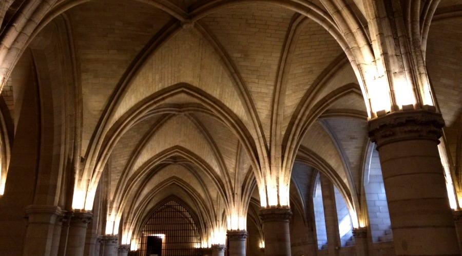 Gothic vault in the Conciergerie