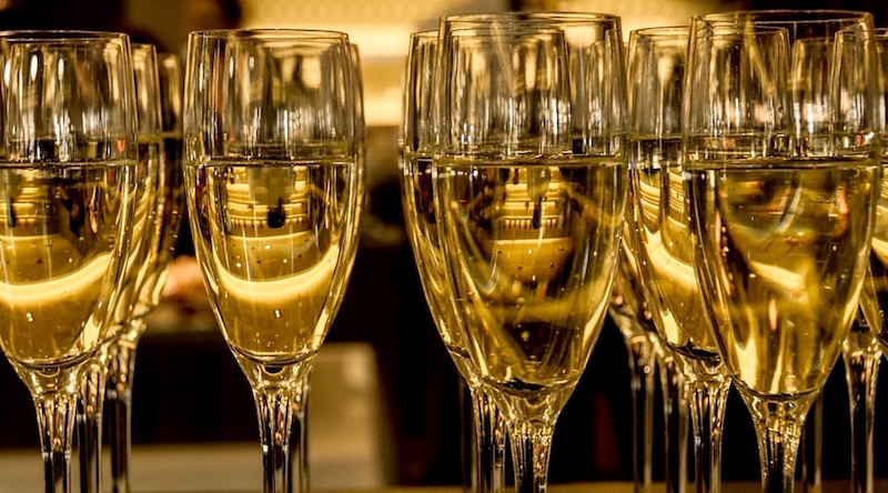 Tasting during Champagne tour
